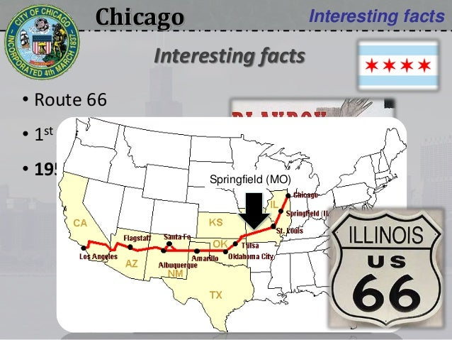 Chicago Interesting facts • Route 66 • 1st Remote control • 1953: Playboy Interesting facts Springfield (MO)