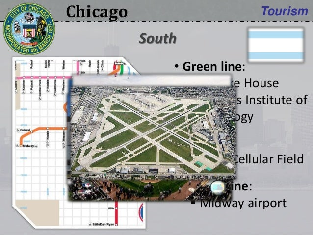 Chicago Tourism • Green line:  Clarke House  Illinois Institute of Technology • Red line:  U.S. Cellular Field • Orange...