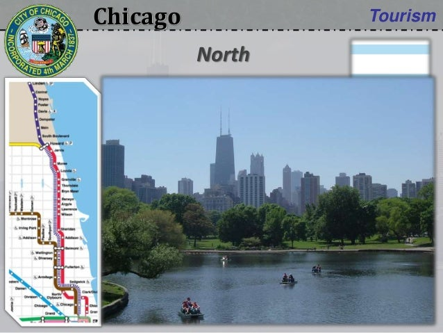 Chicago Tourism • Brown line:  DePaul University • Red line:  Uptown Theatre  Lincoln Park North