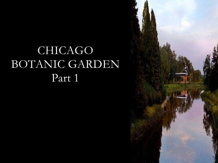 CHICAGO BOTANIC GARDEN Part 1