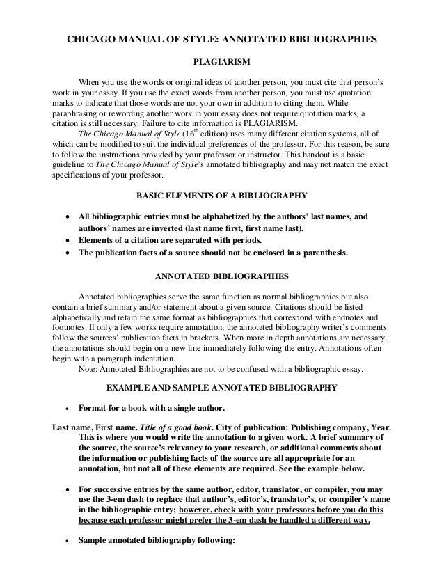 Dissertation bibliography chicago style