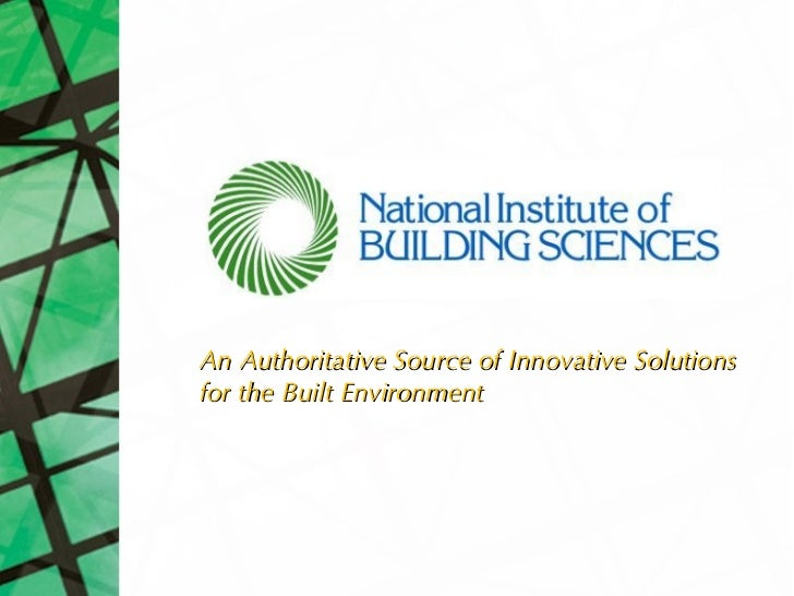 An Authoritative Source of Innovative Solutionsfor the Built Environment