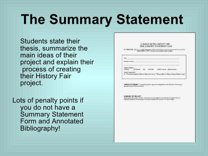 How To Write A Thesis Statement For History Fair Exhibits