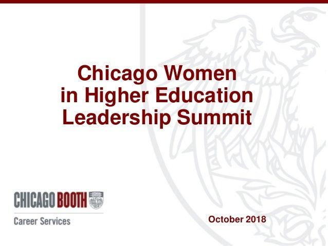 Chicago Women in Higher Education Leadership Summit October 2018