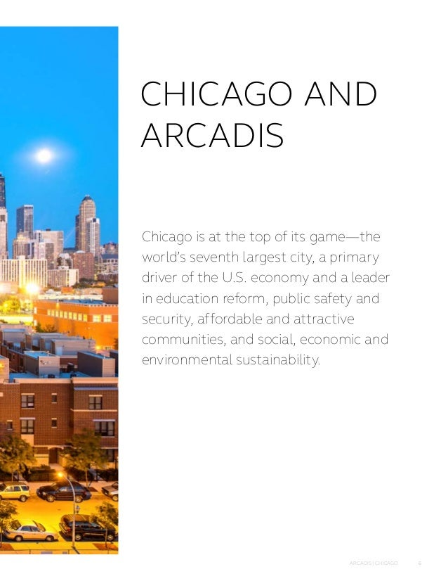 Improving quality of life in chicago for Arcadis design and consultancy