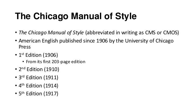 chicago manual of style Chicago citation format (chicago manual of style, 15th ed, sections 17270, 17237) structure: author last name, first name, middle initial, if given if no author, use the site owner title of site (italicized) a subsection of a larger work in quotes editor of site, if given publication information, including latest update if available.