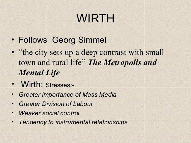 simmel metropolis and mental life