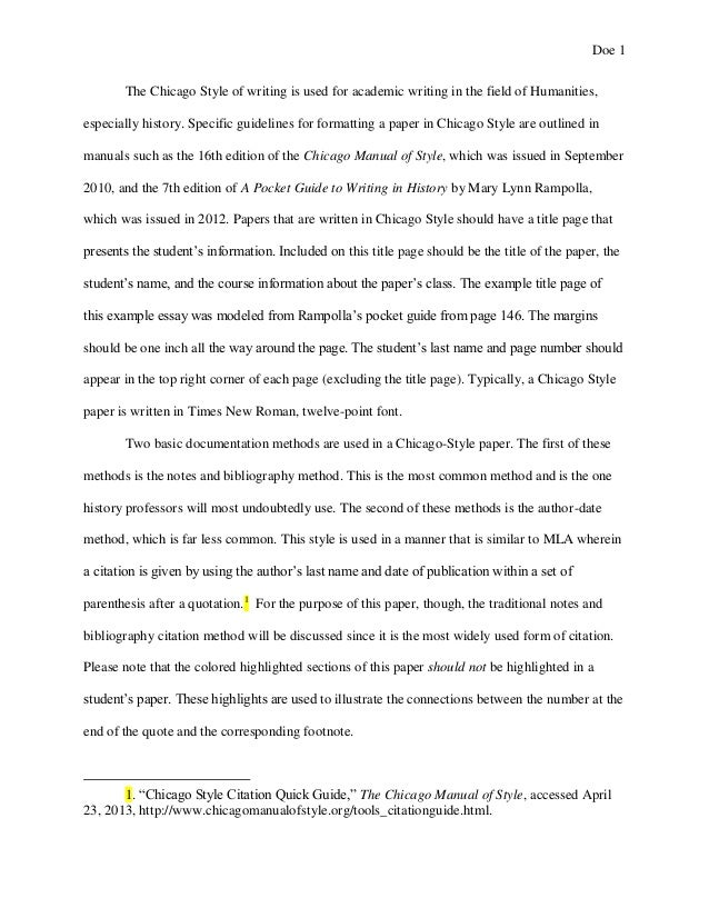 chicago style work cited page Footnotes go at the bottom of the page where the reference occurs endnotes go on a separate page after the body of the paper both use the same formatting guidelines within the essay text: put the note number at the end of the sentence where the reference occurs, even if the cited material is mentioned at the beginning of the sentence.