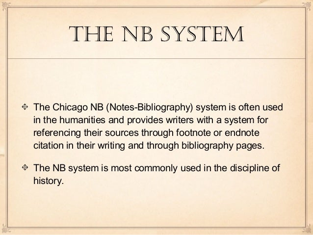 Academic writing the notation system footnotes and endnotes