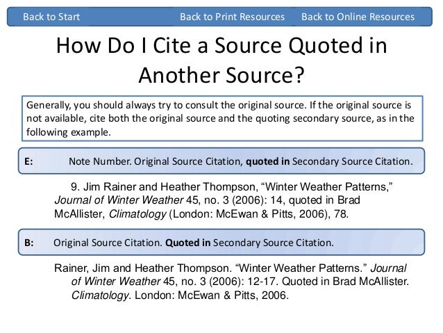 Chicago turabian ppt how do i cite a source quoted in another ccuart Choice Image
