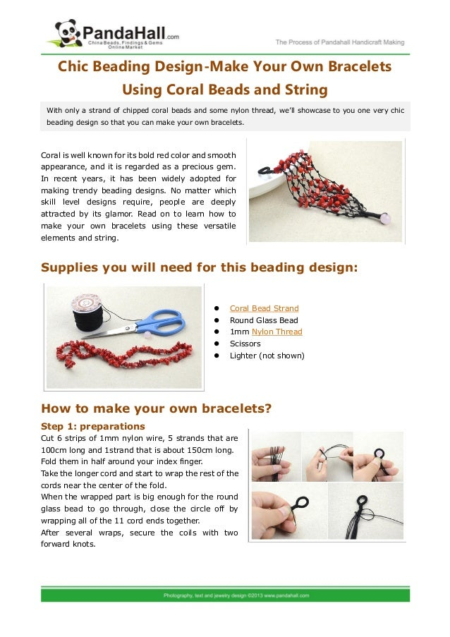 Chic Beading Design Make Your Own Bracelets Using Coral Beads And Str