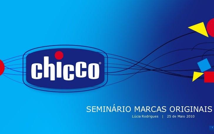 SEMINÁRIO MARCAS ORIGINAIS Lúcia Rodrigues  |  25 de Maio 2010 1