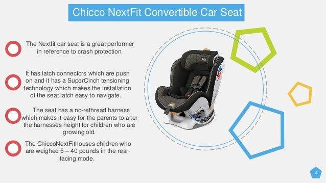 2 Chicco NextFit Convertible Car Seat