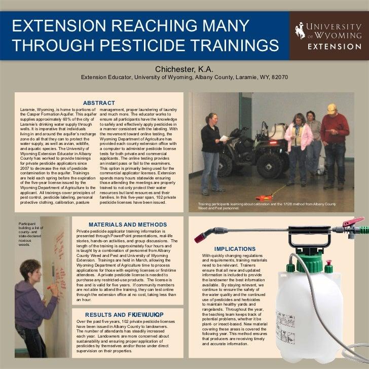 Extension Reaching Manythrough Pesticide Trainings                                                                        ...