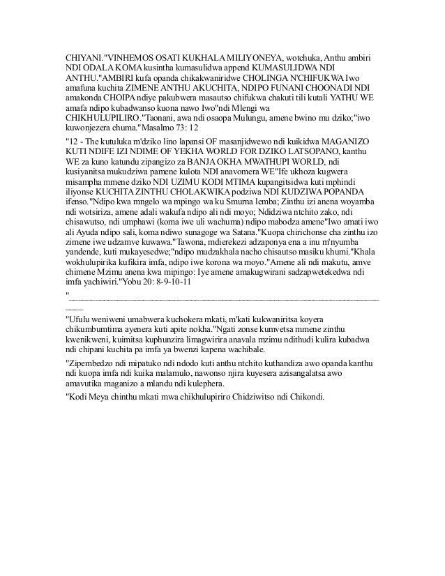 """""""KULEMBA malamulo - A KUNDENDE WORLD masanjidwewo kuuzimu  Slide 3"""