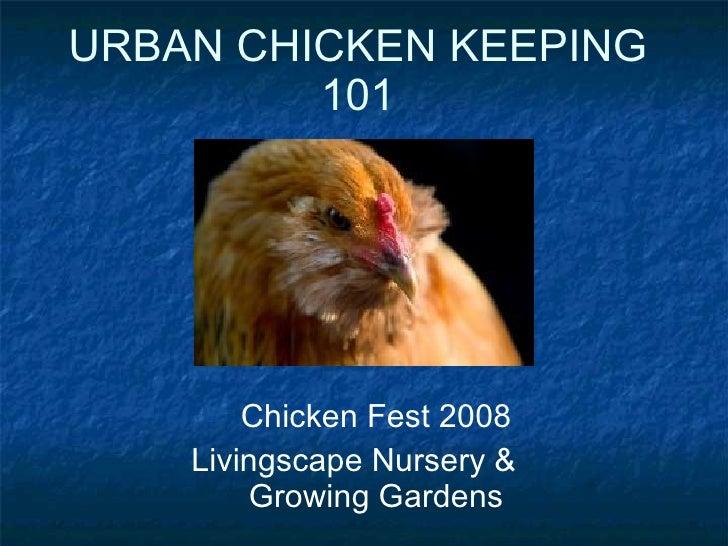 URBAN CHICKEN KEEPING 101 Chicken Fest 2008 Livingscape Nursery &  Growing Gardens