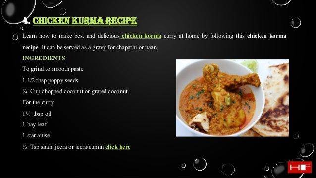 Chicken recipes hungry forever chennai 9 4 chicken kurma recipe forumfinder Gallery
