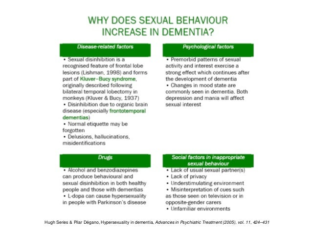 Hypersexuality treatment dementia