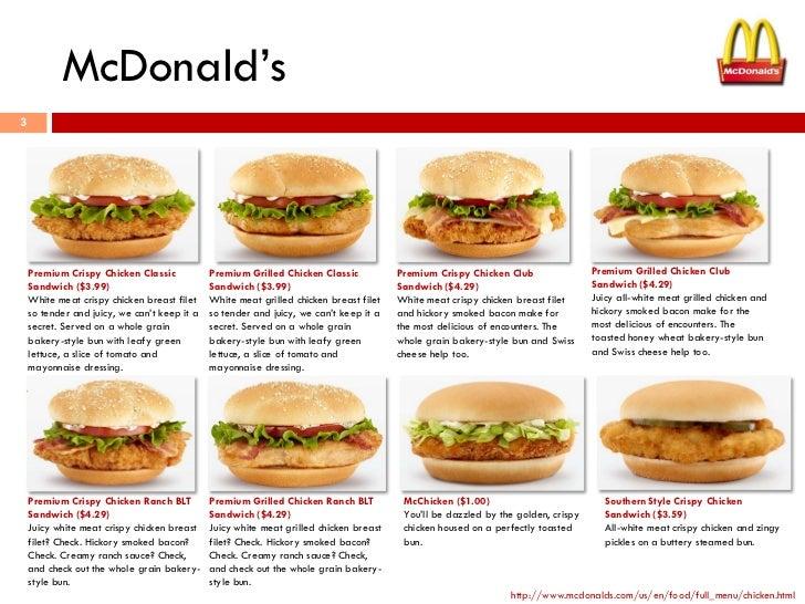Chicken sandwiches for Mcdonald s fish sandwich nutrition