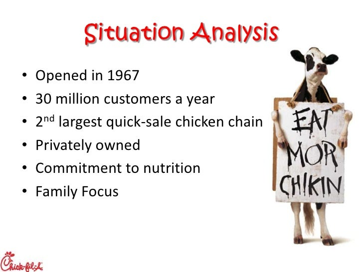 situational analysis chickfila Analysis marketing problem chick-fil-a is known for its situational analysis and marketing strategy - wordpresscom - australia tourism filetype pdf australia.