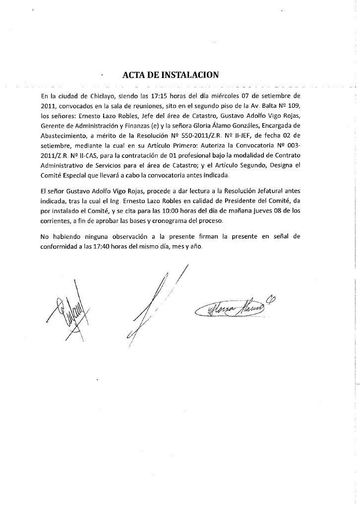 Chiclayo cas 003 2011 apoyo a la oficina de catastro for Oficina de catastro