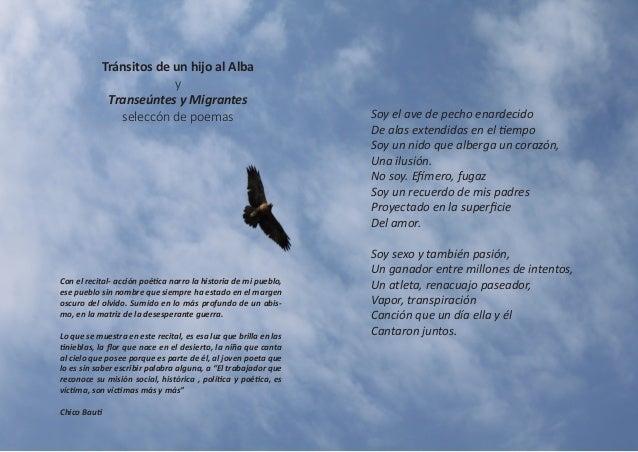 Tránsitos de un hijo al Alba y Transeúntes y Migrantes seleccón de poemas  Con el recital- acción poética narro la histori...