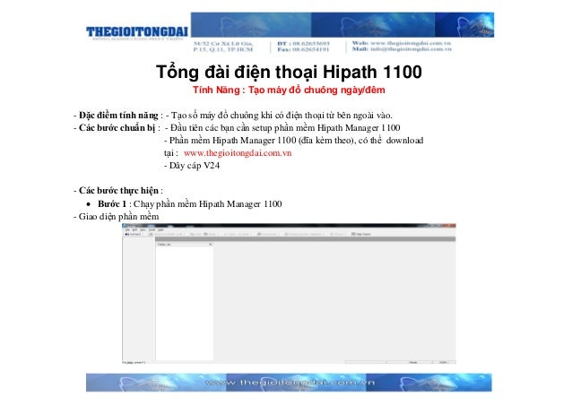 Tổng đài điện thoại Hipath 1100 Tính Năng : Tạo máy đổ chuông ngày/đêm - Đặc điểm tính năng : - Tạo số máy đổ chuông khi c...