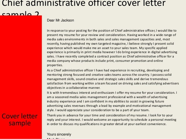 Chief Administrative Officer ...