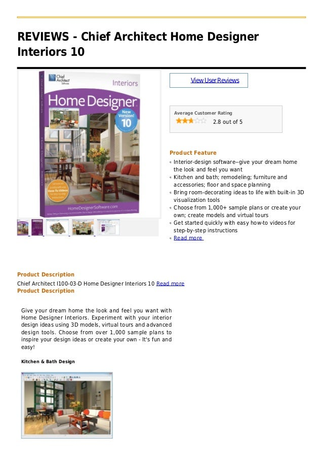REVIEWS - Chief Architect Home DesignerInteriors 10ViewUserReviewsAverage Customer Rating2.8 out of 5Product FeatureInteri...