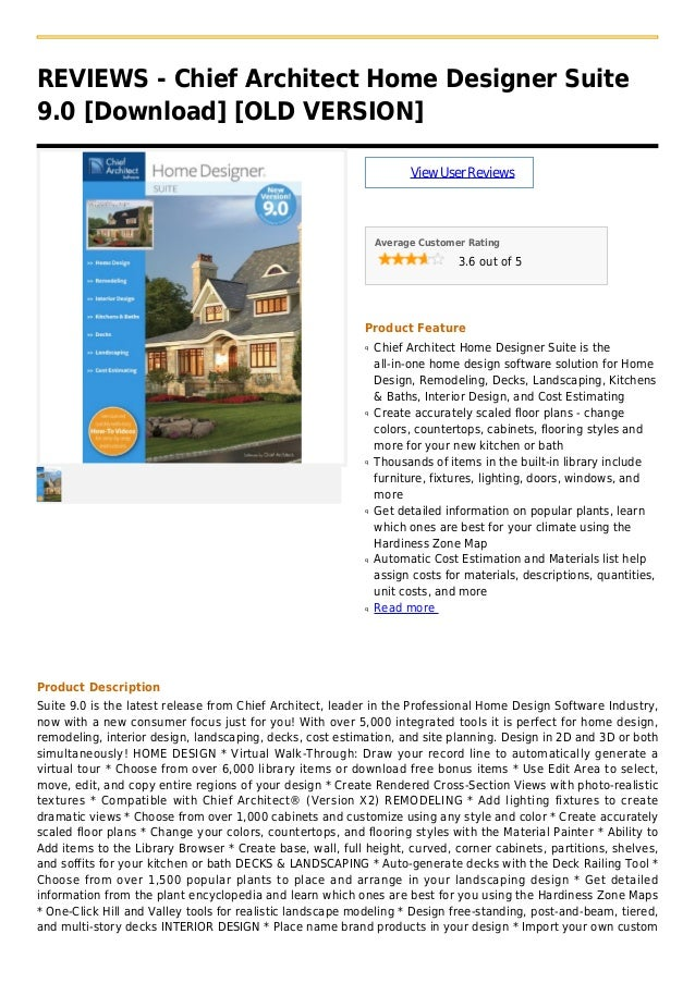 REVIEWS - Chief Architect Home Designer Suite9.0 [Download] [OLD VERSION]ViewUserReviewsAverage Customer Rating3.6 out of ...