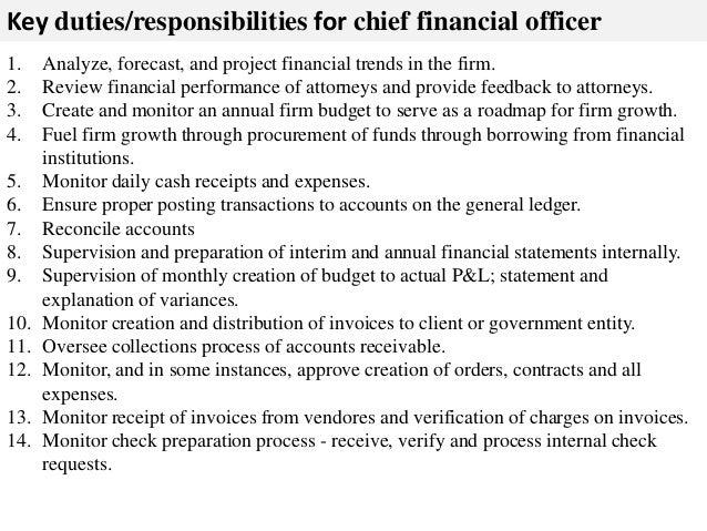 Beautiful ... 2. Key Duties/responsibilities For Chief Financial Officer 1. Analyze  ...