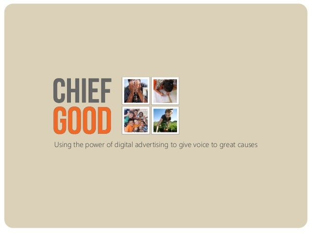 Using the power of digital advertising to give voice to great causes