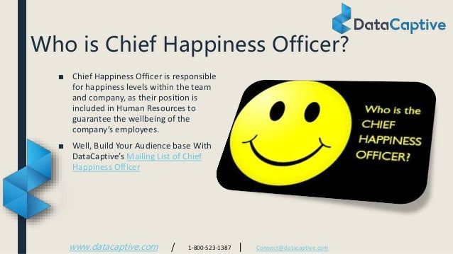 chief happiness officer email list