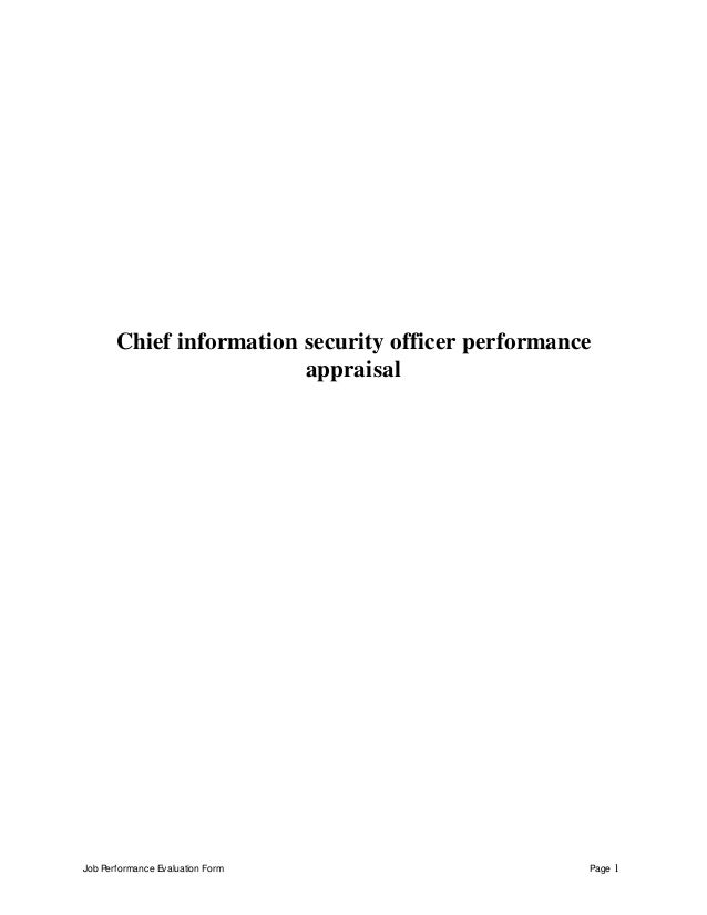 Technology Management Image: Chief Information Security Officer Perfomance Appraisal 2