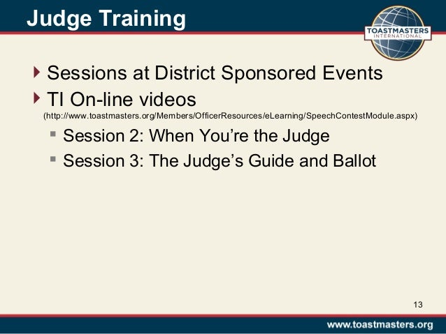 chief judge training summer 2013