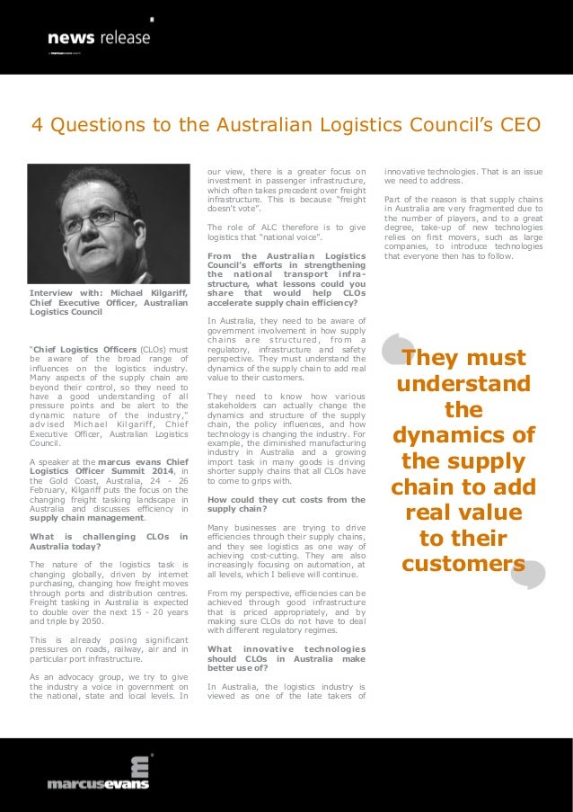 4 Questions to the Australian Logistics Council's CEO our view, there is a greater focus on investment in passenger infras...