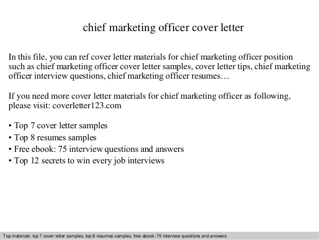Chief Marketing Officer Cover Letter In This File You Can Ref Materials For