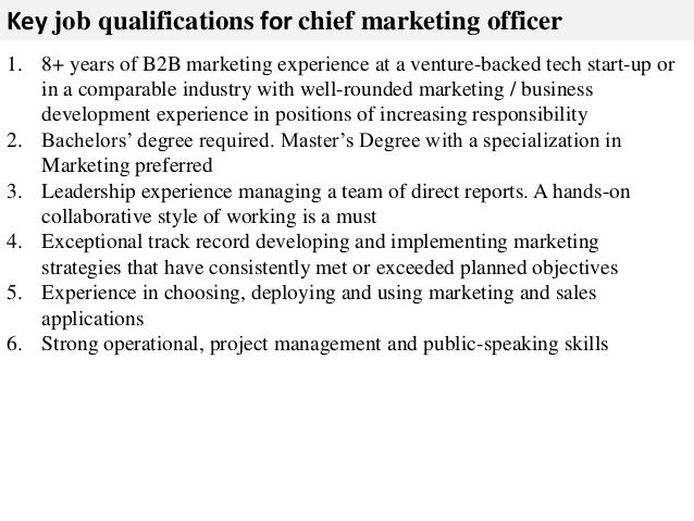 Lovely ... Marketing Associations And Advisors; 3. Key Job Qualifications For Chief  Marketing Officer ...