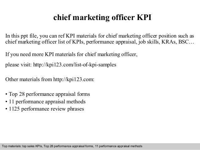 Chief Marketing Officer KPI In This Ppt File, You Can Ref KPI Materials For  Chief ...