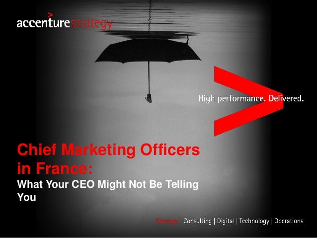 Chief Marketing Officers in France: What Your CEO Might Not Be Telling You