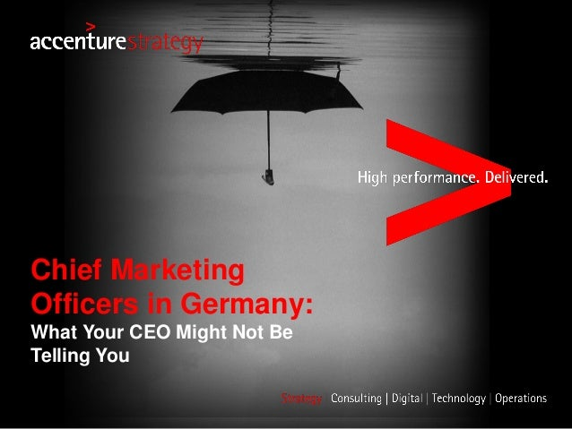 Chief Marketing Officers in Germany: What Your CEO Might Not Be Telling You
