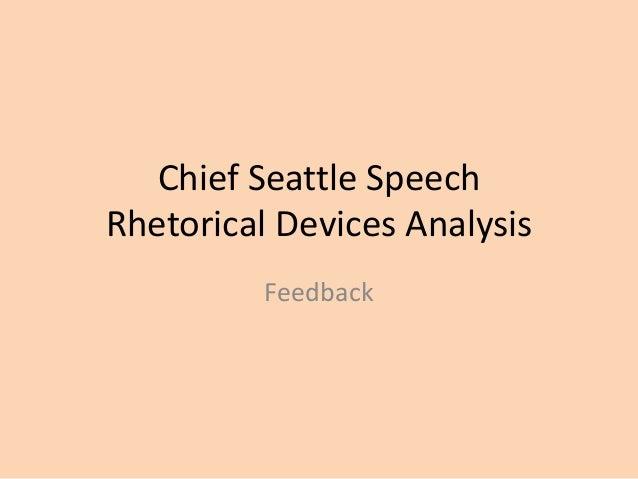 chief seattle rhetorical strategies