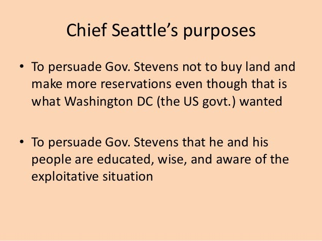 chief seattle rhetorical devices prompt chief seattle s