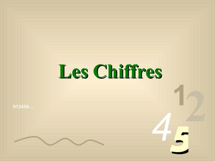 013456… 1 2 4 5 Les Chiffres