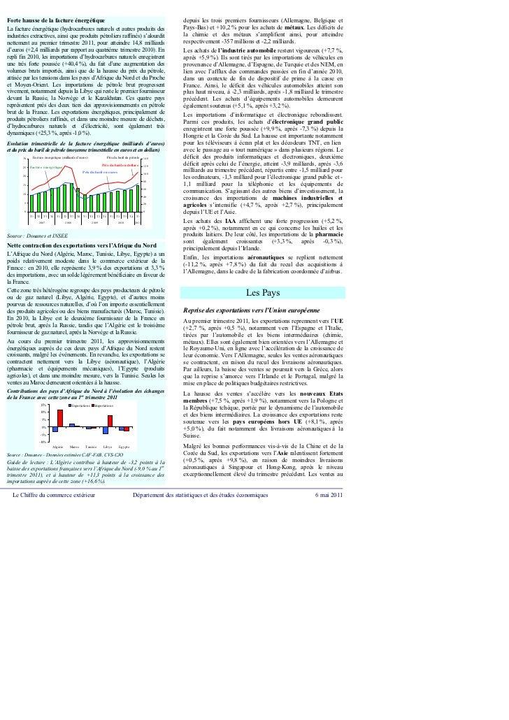 Chiffres commerce exterieur 1er trimestre 2011 dgddi for Commerce exterieur belgique