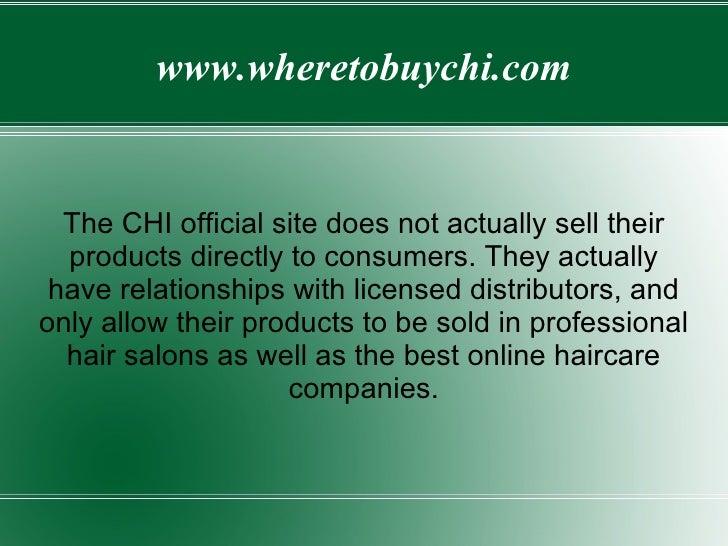 Chi Flat Iron Website