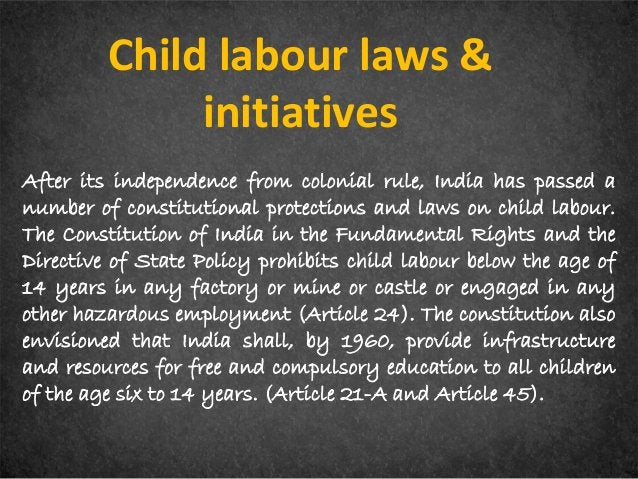 In 1979, the Indian government formed the Gurupadswamy Committee to find about child labour and means to tackle it. The Ch...