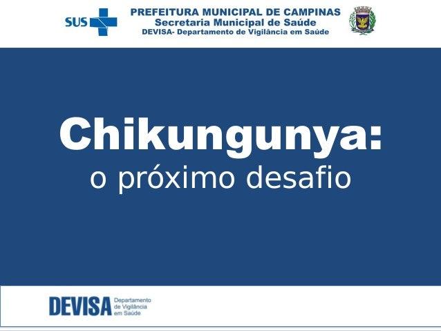 Chikungunya:  o próximo desafio