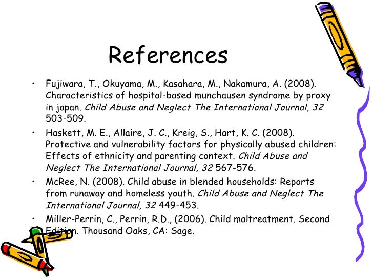 understanding the causes effects and management of munchausen syndrome by proxy 11 from medically inconclusive causes  the effects of a suspected case of munchausen's syndrome by proxy on a  management of munchausen syndrome by.
