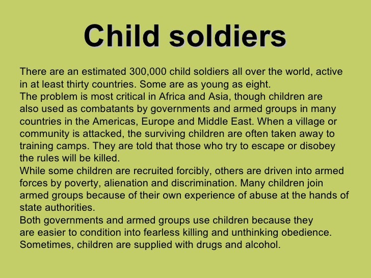 Image result for save the child soldiers